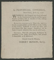 In Provincial Congress, New-York, June 13, 1776.