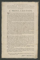 By the Honorable Jonathan Trumbull, Esquire, captain-general, and commander in chief of the state of Connecticut, in America. A proclamation.