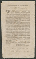 Commonwealth of Massachusetts. In Senate, February 26, 1781.