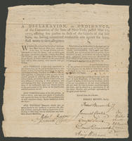 Declaration, or Ordinance, of the Convention of the State of New-York, passed May 10, 1777, offering free pardon to such of the subjects of the said State, as, having committed treasonable acts against the same, shall return to their allegiance. Whereas d