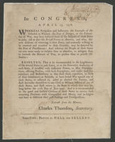 In Congress, April 23, 1778.