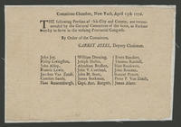 Committee-chamber, New-York, April 13th 1776.