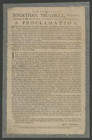 By His Excellency Jonathan Trumbull, Esquire ... A proclamation.
