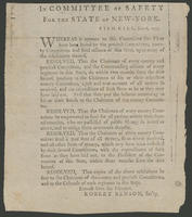 In Committee of Safety for the state of New-York. Fish-kill, Jan. 6, 1777.