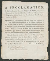 proclamation. By His Excellency the Honorable William Howe.