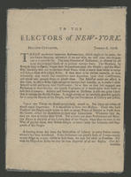 To the electors of New-York. January 6, 1776.