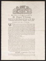 By His Excellency Sir Henry Clinton, knight of the most honourable Order of Bath, lieutenant general of his Majesty's forces, &c. Proclamation.