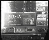 42nd Street near Seventh Avenue, New York City, May 1920: Fatima Cigarettes, Cort Theatre, Cecil B. DeMille (movies).