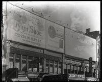 125th Street between Seventh Avenue and Lenox Avenue, New York City, December 1921: Brooklyn Shoe ['Blyn Shoe'], Brunswick Phonographs and Records. Also storefronts of Ideal Shoe Shop, Christensen School of Rag and Jazz, Orient Movies, Leight Brothers Out