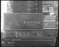 42nd Street between Seventh Avenue and Eighth Avenue, New York City, December 1921: Fatima Cigarettes, Maxwell House Coffee, Cort Theatre.