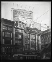 42nd Street and Sixth Avenue, New York City, January 1922: Hy-lass Veils, Mikado Pencils , Ray Battery. Also 1 empty billboard.