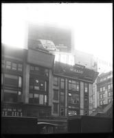 42nd Street and Sixth Avenue, New York City, February 1922: Mikado Pencils , Ray Battery. Also 2 empty billboards.