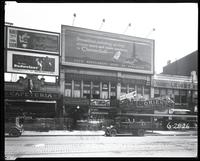 125th Street between Seventh Avenue and Lenox Avenue, New York City, June 28, 1926: Chesterfield Cigarettes, Budweiser, John Barrymore in 'Don Juan' at the Warner Theatre. Also storefronts of Ideal Shoe Shop, Toby's Men's Shop, Christensen School of Rag a