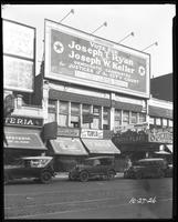 125th Street between Seventh Avenue and Lenox Avenue, New York City, October 27, 1926: Democratic Candidates for City Court Justices, (Joseph T. Ryan, Joseph W. Keller). Also storefronts of Ideal Shoe Shop, Toby's Men's Shop, Christensen School of Rag and