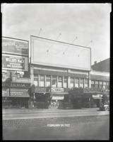 125th Street between Seventh Avenue and Lenox Avenue, New York City, February 24, 1927: Vitaphone's 'Don Juan' (partial), 'Honor Be Damned' (statge play) at the Morosco Theatre. Also storefronts of Ideal Shoe Shop, Toby's Men's Shop, Christensen School of
