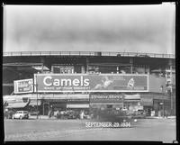 Eighth Avenue and Cathedral Parkway [i.e. 110th Street], New York City, September 29, 1934: Camel Cigarettes, Fidelio Beer. Also 1 empty billboard.