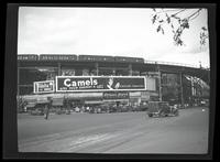 Eighth Avenue and Cathedral Parkway [i.e. 110th Street], New York City, September, 1934: Camel Cigarettes, Fidelio Beer. Also 1 empty billboard.