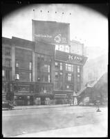 West 42nd Street near Sixth Avenue, New York City, August 26, 1925: Armour Star Ham, Giolito Brothers Cedar Garden Restaurant, King Band Instruments, National Zweiback (very small).