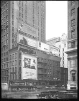Fifth Avenue and 42nd Street, New York City, October 23, 1925: Sunbeam Tomato Catsup, Brentano's Book Store, Venus Pencils, Selbert Furs, Richardson Radio Receivers, George E. Merrick (Miami real estate). Also 2 empty billboards.