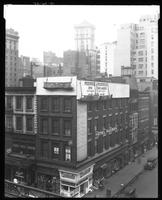 Sixth Avenue and West 44th Street, New York City, October 24, 1925: Pickwick Inn / Pickwick Inn Annex. Also 2 empty billboards, storefront for Nedick's.