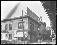 Third Avenue and East 166th Street, Bronx, New York City, October 26, 1925: Armour Star Ham, Seeley's Ginger Ale. Also L. Oppenheimer, grocer; M. Rubin storefront with poster for Dr. Posner's Shoes.