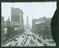 3 Longacre Square, Broadway and Seventh Avenue looking south from 47th Street, New York City, 1923. (Roege 9437)