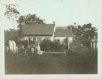 Gravesend: C. Lake House, built 1820, east side of Van Sicklen Street at [between?]  Village Road South and Neck Road; view from the town cemetery, 1922. Demolished by 1937.