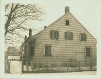 Gravesend: C. Lake House, built 1820, east side of Van Sicklen Street at [between?]  Village Road South and Neck Road; front wesat view from Van Sicklen Street, 1923. Demolished by 1937.