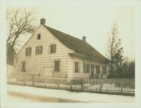 Gravesend: C. Lake House, built 1820, east side of Van Sicklen Street at [between?]  Village Road South and Neck Road, 1923. Rear and west view. Demolished by 1937.
