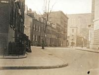 Greenwich Village: Bedford Street, facing west toward St. Luke's Chapel, undated.