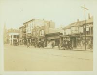 Flushing: view of 29-45 Main Street, including no.'s 37 and 39, the parsonage of Rev. Barzilai Brinkley [?], 1922.