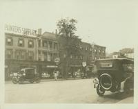 Flushing: 103 and 105 Main Street; Hepburn's Pharmacy at 103, Geddes Paint at 105, 1922.