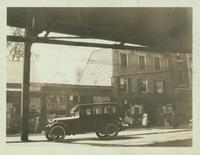 Jamaica: Altlantic & Pacific Tea Company,  466 Fulton Street (Jamaica Avenue [?]), 1922. Samuel Hirst General Merchandise, 124 [?] Fulton Street, building at right.
