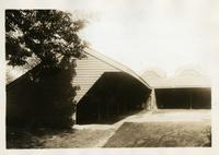 Flatlands: wagon sheds at the Dutch Church of Flatlands, 1922.