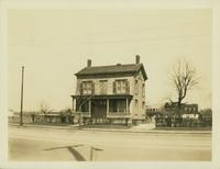 Flatlands: yellow house on the east side of Flatbush Avenue opposite Avenue P, April 1923.