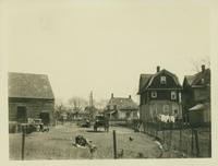 Flatlands: 1754 Flatbush Avenue, Stoolhoff-Duryea House and barn, at the junction with Avenue J and E. 35th Street, 1923.