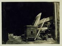 Flatlands: woodburning stove at Jacob Ryserson House, New Lots Road, October 1925.