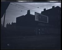 Brooklyn: billboard in front of unidentified lot, undated.