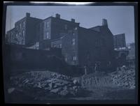 Brooklyn: open lot, possibly after demolition of a building, undated.