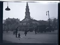 East Village: St. Mark's Church-in-the-Bowery, undated. Street traffic