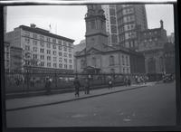 [Lower Manhattan: St. Paul's Chapel and cemetery], undated.