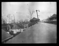 Flushing: view from atop unidentified el station, undated.