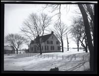 Flushing: winter view of unidentified farmhouse in snow, undated.