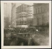 New York City: New York Produce Exchange Bank Building, 10-12 Broadway, under construction, undated.