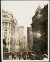 New York City: Broadway looking north from Battery Park, undated.