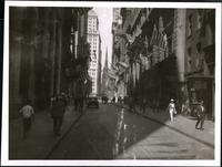 New York City: Wall Street looking west, toward Trinity Church, undated.