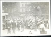 New York City: broken horse cart at Whitehall Street and State Street, undated.