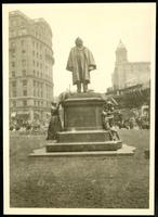 New York City: Brooklyn, statue of Henry Ward Beecher, 1923.
