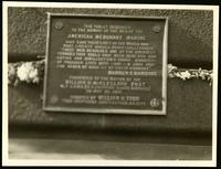 New York City: American Merchant Marine memorial tablet, undated.