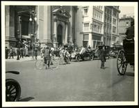 New York City: traffic outside Fifth Avenue Presbyterian Church, Fifth Avenue and 37th Street, undated.